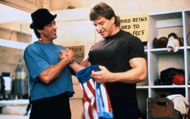 Tommy Morrison a Sylvester Stallone / zdroj foto: www.boxingscene.com